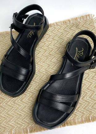 🔥 стильные кожаные босоножки с ремешками9 фото