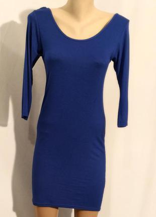 1720 синее трикотажное платье proposal s m