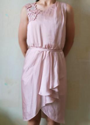 Розовое летнее платье от seam