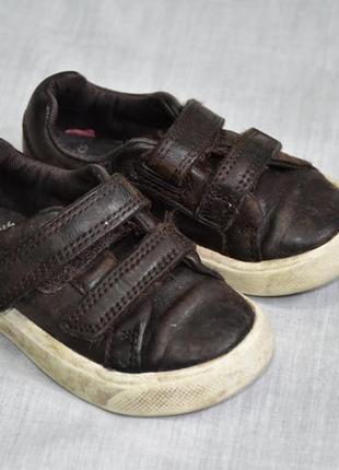 Детские кожаные коричневые ботинки clarks оригинал оригинальные 20.5 размер