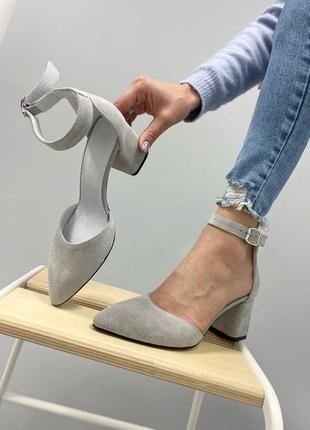 Туфлі з натуральної замші4 фото