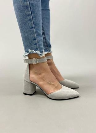 Туфлі з натуральної замші2 фото