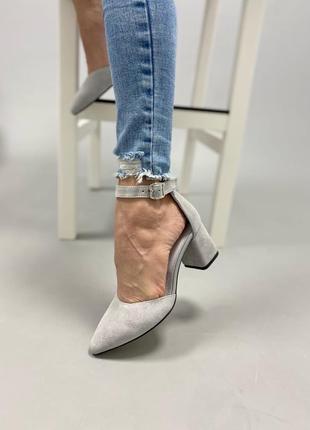 Туфлі з натуральної замші3 фото