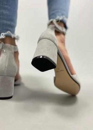 Туфлі з натуральної замші6 фото