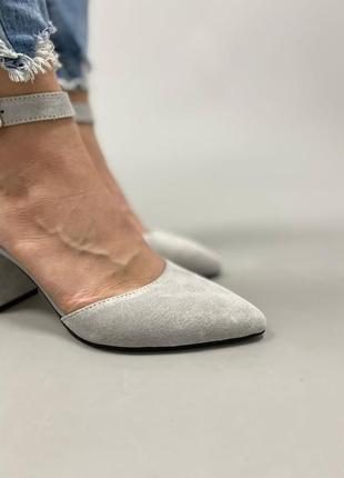 Туфлі з натуральної замші8 фото