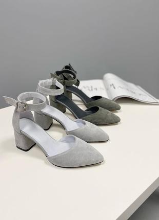 Туфлі з натуральної замші9 фото