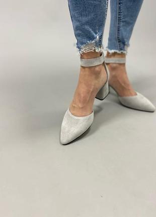 Туфлі з натуральної замші7 фото