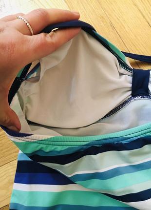 Батал большой размер сдельный слитный полосатый купальник купальничек5 фото
