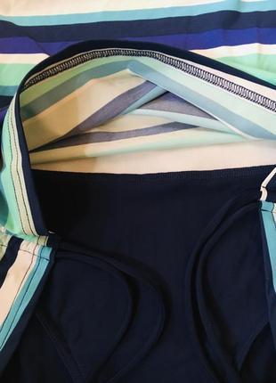 Батал большой размер сдельный слитный полосатый купальник купальничек3 фото