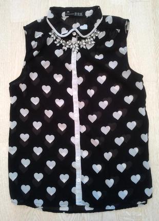 Блуза \ блузка в сердечко