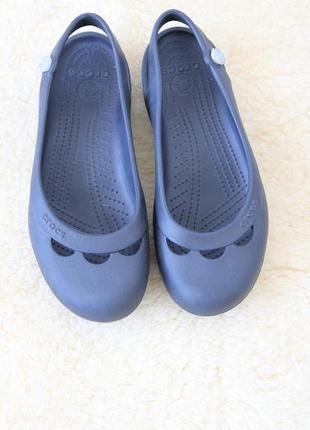 Crocs балетки босоножки w8 оригинал4 фото