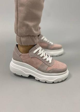 Кросівки з натуральної замші