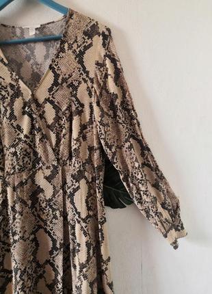 Шикарное макси-платье в змеиный принт h&m3 фото