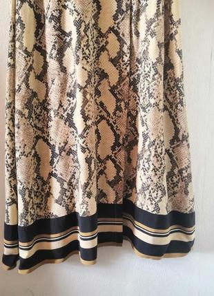 Шикарное макси-платье в змеиный принт h&m4 фото
