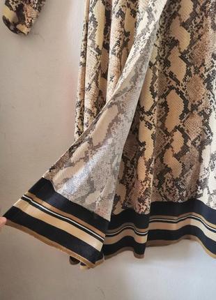 Шикарное макси-платье в змеиный принт h&m6 фото