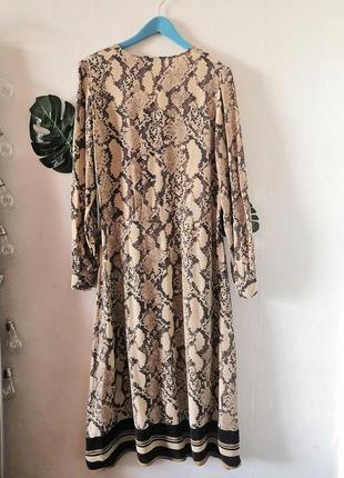 Шикарное макси-платье в змеиный принт h&m9 фото