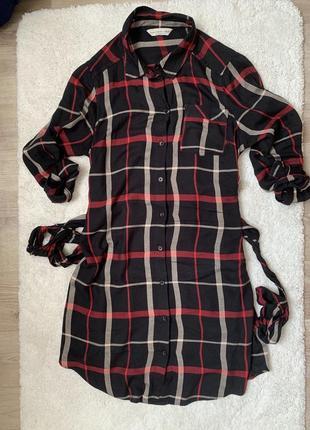 Платье рубашка в клетку f&f