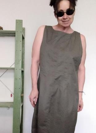 Платье без рукавов цвет тауп gap