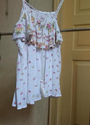 Майка кофточка на бретелях кофтинка літня біла вінтажний стиль винтажный стмль винтаж блуза топ