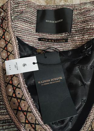 Пиджак дакет кардиган коричневый красивый вышиванка7 фото