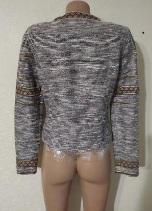 Пиджак дакет кардиган коричневый красивый вышиванка4 фото