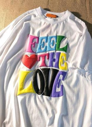 Белая футболка женская оверсайз1 фото