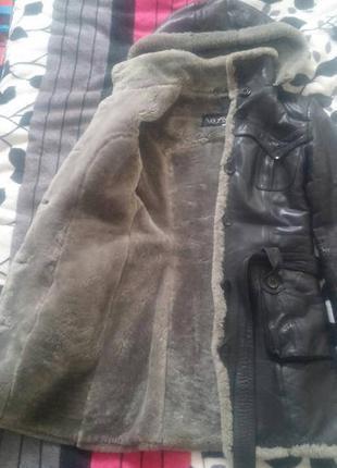 Теплая зимняя куртка на овчине