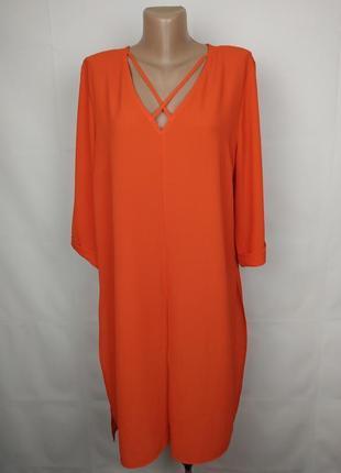 Платье туника красивое оранжевое легкое atmosphere uk 18/46/xxl