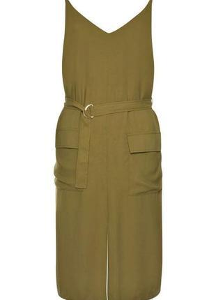 Оверсайз батал платье большой размер сарафан хаки милитари оливковый 16р xxl primark