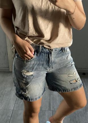 Джинсовые шорты светлые cropp