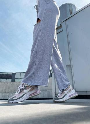 Новинка женские кроссовки nike react 270 pink grey наложка3 фото