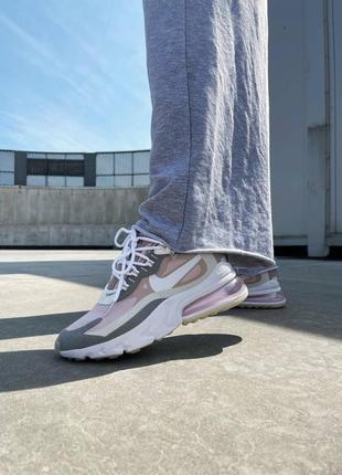 Новинка женские кроссовки nike react 270 pink grey наложка9 фото
