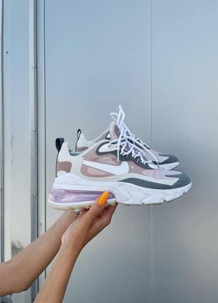 Новинка женские кроссовки nike react 270 pink grey наложка2 фото