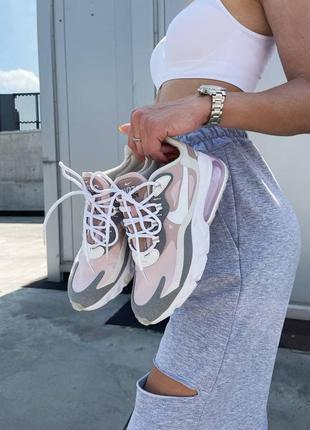 Новинка женские кроссовки nike react 270 pink grey наложка6 фото