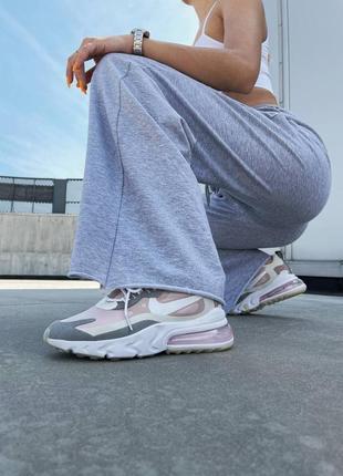 Новинка женские кроссовки nike react 270 pink grey наложка8 фото