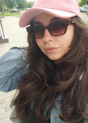 Солнцезащитные женские очки / защита uv 400 / ретро кошечка кошки лисички