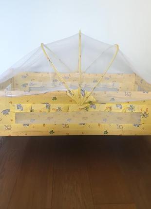 Колиска люлька дерев'яна ліжечко