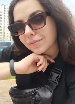 Женские солнцезащитные очки / актуальная форма / защита uv 400 / ретро кошечки лисички