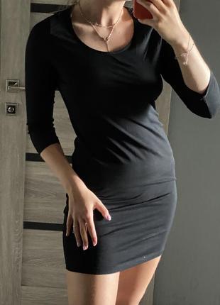 Платье чёрное трикотажное atmosphere