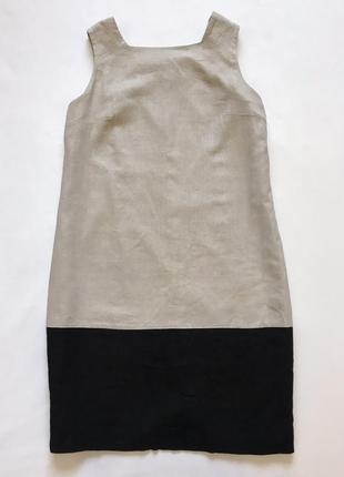 Сарафан платье-футляр лен вискоза1 фото