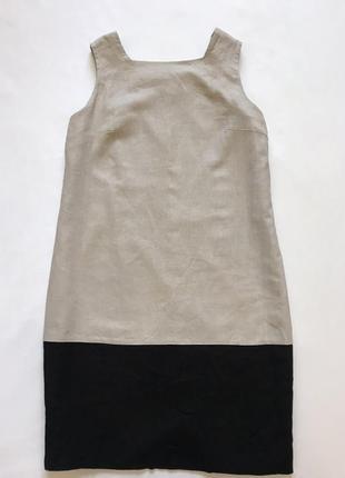 Сарафан платье-футляр лен вискоза2 фото