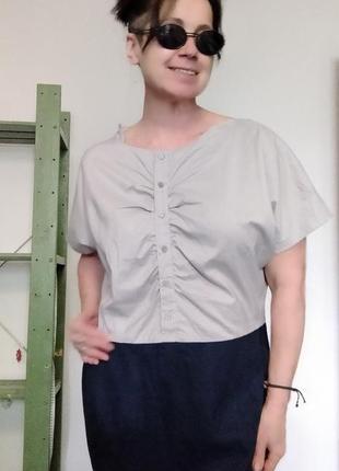 Платье комбинированное gap