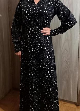 Длинное платье горох9 фото