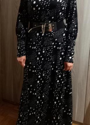 Длинное платье горох4 фото