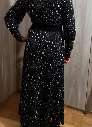 Длинное платье горох3 фото