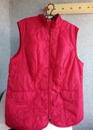 Шикарная красная жилетка women's selection 52 размер
