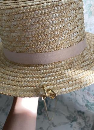 Шляпа конотье с цепочкой3 фото