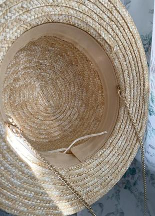 Шляпа конотье с цепочкой4 фото