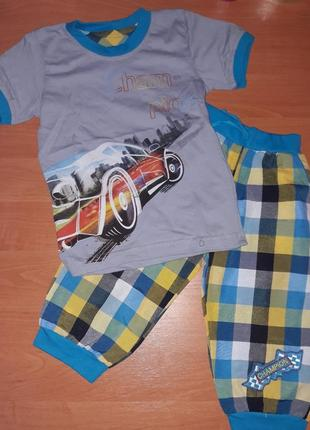 Футболка и удлиненные шорты для мальчика