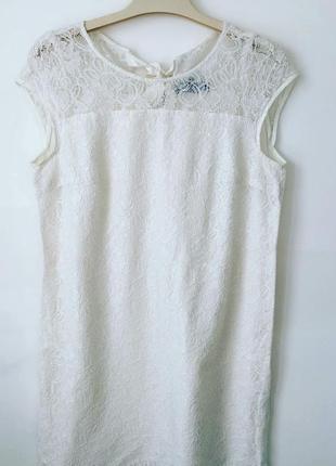 Красивое белое гипюровое платье incity